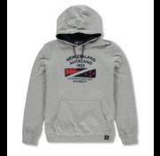 New Zealand Auckland Hooded Sweater Grijs Opdruk (19GN320 - 70)