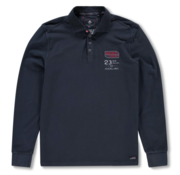 New Zealand Auckland Lange Mouw Polo Navy (19GN200 - 265)