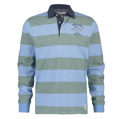 New Zealand Auckland Lange Mouw Polo Dusty Green (19GN201 - 490)