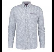 New Zealand Auckland Overhemd Print White (19GN516 - 103)