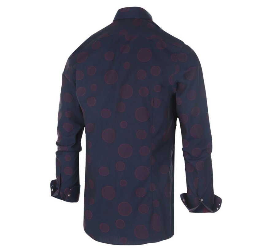 Overhemd Stippen Navy (1145.92)