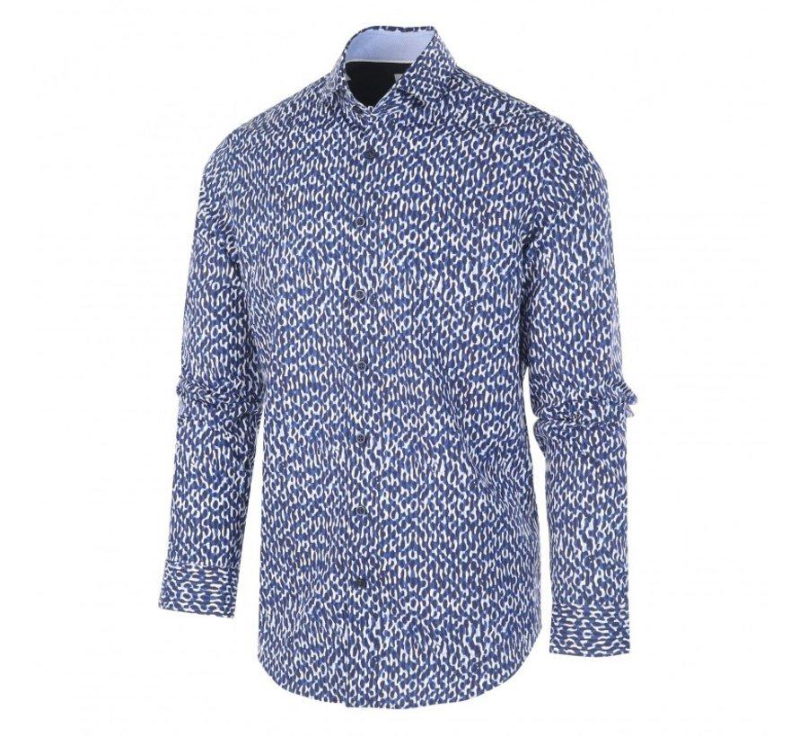 Overhemd Print Camouflage Blauw (1159.92)