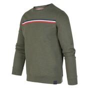 Blue Industry Sweater Strepen Groen (KBIW19-M34-Green)
