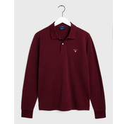 Gant longsleeve polo regular fit Bordeaux (5201 - 605)