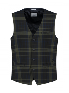Dstrezzed Gilet English Check Dark Navy (121117 - 649)