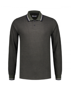 Dstrezzed Lange Mouw Polo Dark Army (202462 - 524)