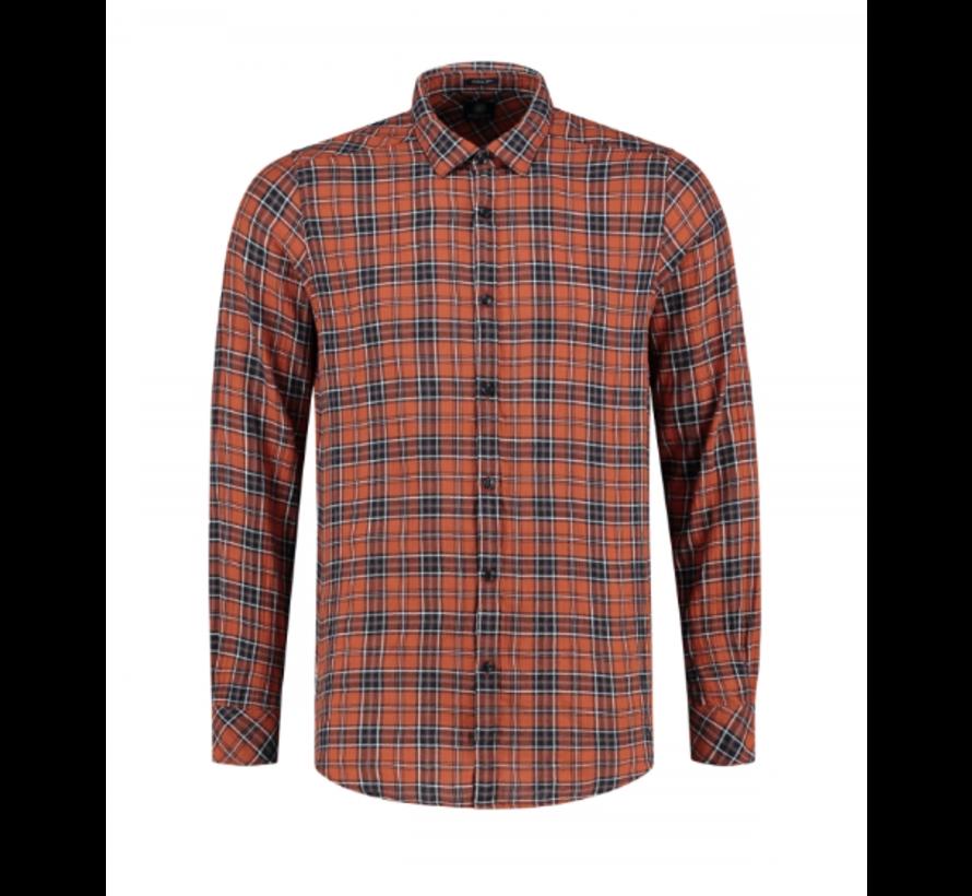 Overhemd Herringbone Check Oranje (303248 - 439)