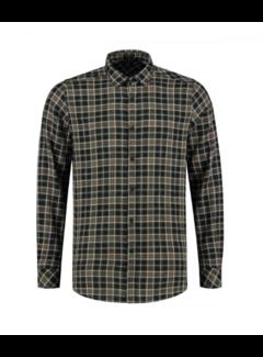 Dstrezzed Overhemd Herringbone Check Dark Army (303248 - 524)
