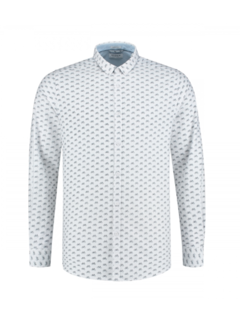 Dstrezzed Overhemd Bicicle Chambray White (303253 - 100)