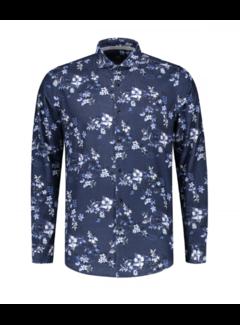 Dstrezzed Overhemd Flower Ribcord Navy (303278 - 669)