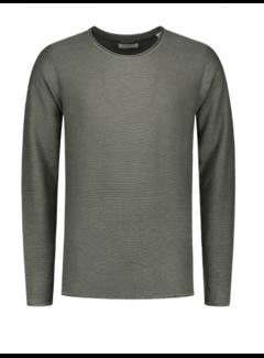 Dstrezzed Sweater Cooper Acid Stripe Dark Army (404186 - 524)