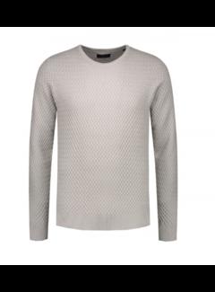 Dstrezzed Sweater Fancy Structure Light Grey (404196 - 810)