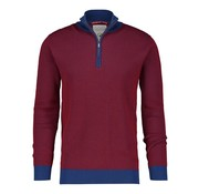 A Fish named Fred Trui Slim Fit Met Ritskraag Bordeaux Rood (92.02.502)
