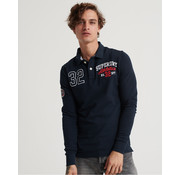Superdry Lange Mouw Polo Superstate Classic Eclipse Navy (M1100013A - 98T)