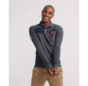 Superdry Lange Mouw Polo Superstate Classic Cinder (M1100013A - QXT)