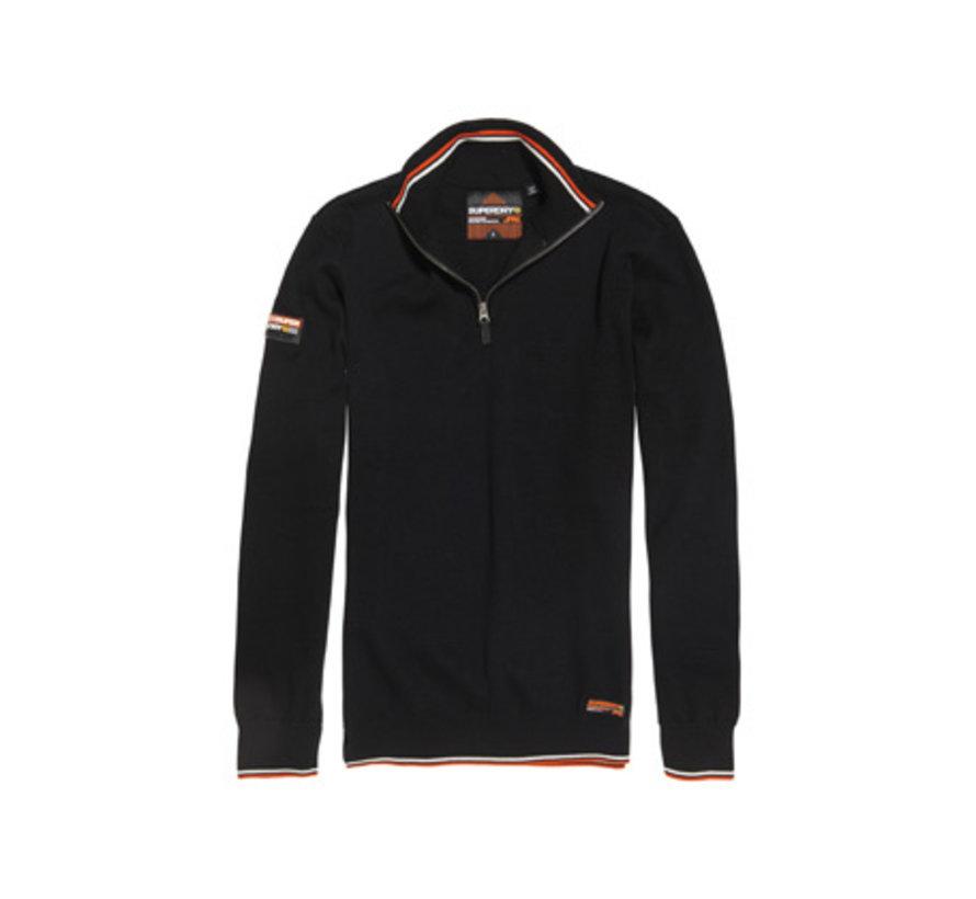 Half-Zip Trui Downhill Racer Henley Black (M6100009A - 02A)