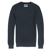 Superdry Sweater L.A. Textured Crewneck Dry Storm Navy (M6100018A - UP6)