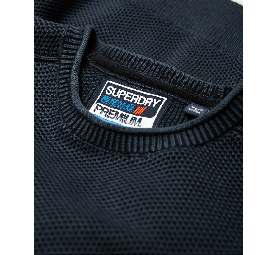 Sweater L.A. Textured Crewneck Dry Storm Navy (M6100018A - UP6)