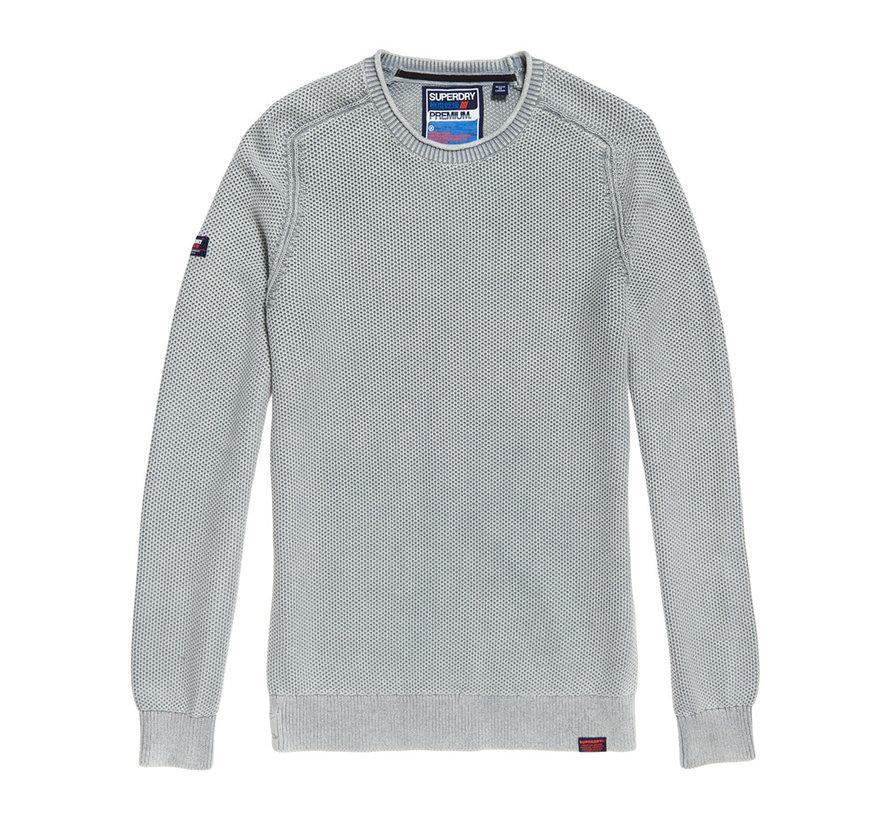 Sweater L.A. Textured Crewneck Washed Skylark (M6100018A - Y6K)