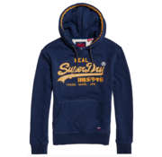Superdry Racer Hoody Vintage Logo Princedom Blue Marl (M2000074A - BCY)