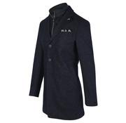 Blue Industry Winter Coat Gevoerd Gemeleerd Navy (OBIW19 - M33 - Navy)