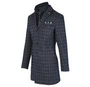Blue Industry Winter Coat Gevoerd Ruit Navy (OBIW19 - M34 - Navy)