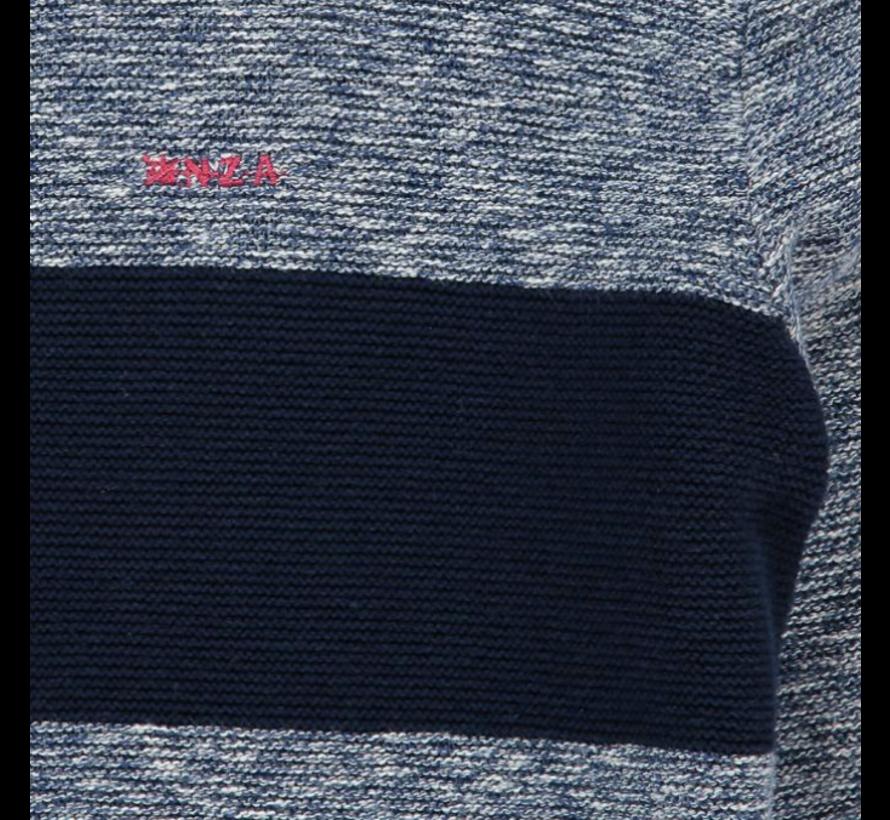 Half-Zip Pullover Wairepo Arm Blauw (19HN402 - 265)