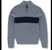 New Zealand Auckland Half-Zip Pullover Wairepo Arm Blauw (19HN402 - 265)