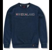 New Zealand Auckland Sweater Tangowahine Opdruk Blauw (19HN325 - 396)