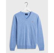 Gant V-Hals Pullover wol Lake Blue Melange (86212 - 478)