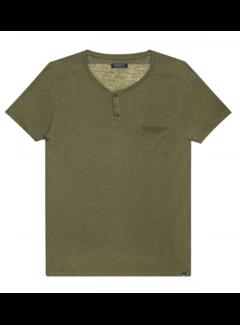 Dstrezzed V-hals T-shirt Army Groen (202364 - 511)