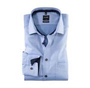 Olymp overhemd Luxor Modern Fit Print Lichtblauw (1201 44 11)