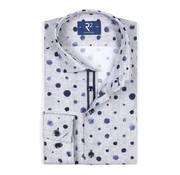 R2 Amsterdam Overhemd extra Mouwlengte Verfstippen Grijs (106.WSP.XLS.072 - 028)
