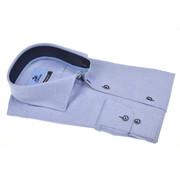 Culture Overhemd Modern Fit Gemeleerd Blauw (504057 - 32)