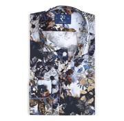 R2 Amsterdam Overhemd Extra Mouwlengte Bloemen Print Navy (106.WSP.XLS.023 - 073)