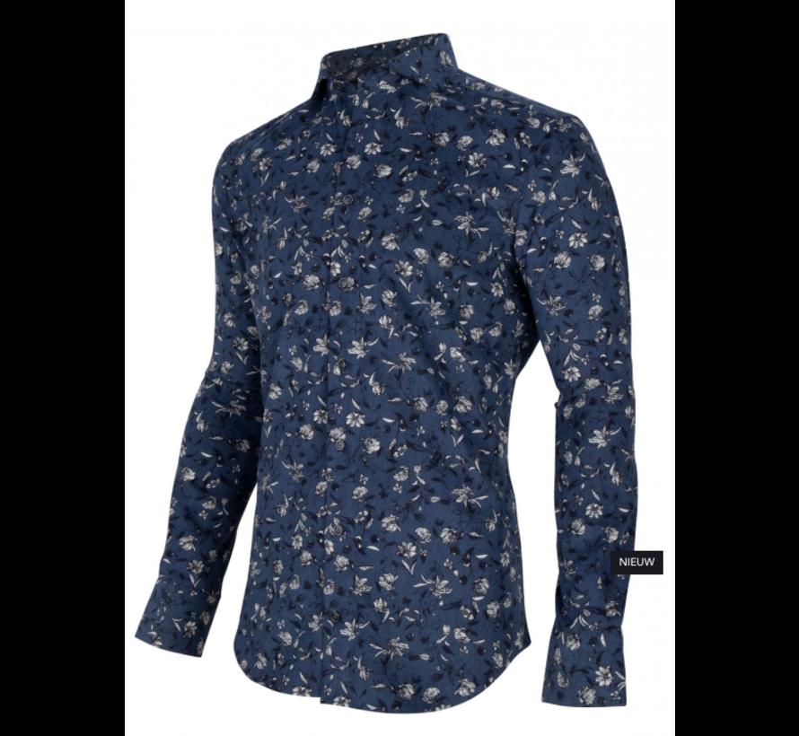 Overhemd Maestro Navy Print Bloemen (1095027 - 63633)