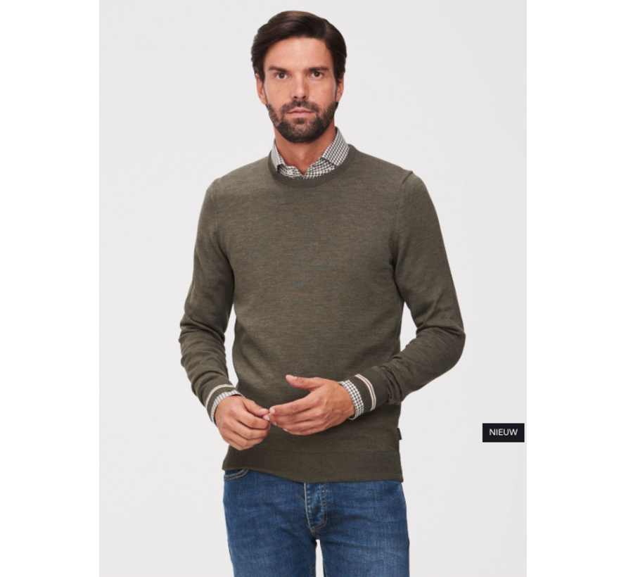 Pullover Romagno Ronde Hals Groen (1895005 - 50000)