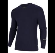 Cavallaro Napoli Pullover Aranido V-Hals Donker Blauw (1895009 - 63000)
