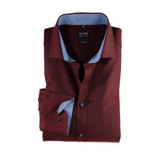 Olymp Overhemd Level 5 Body Fit Bordeaux Rood (0531 64 39N)