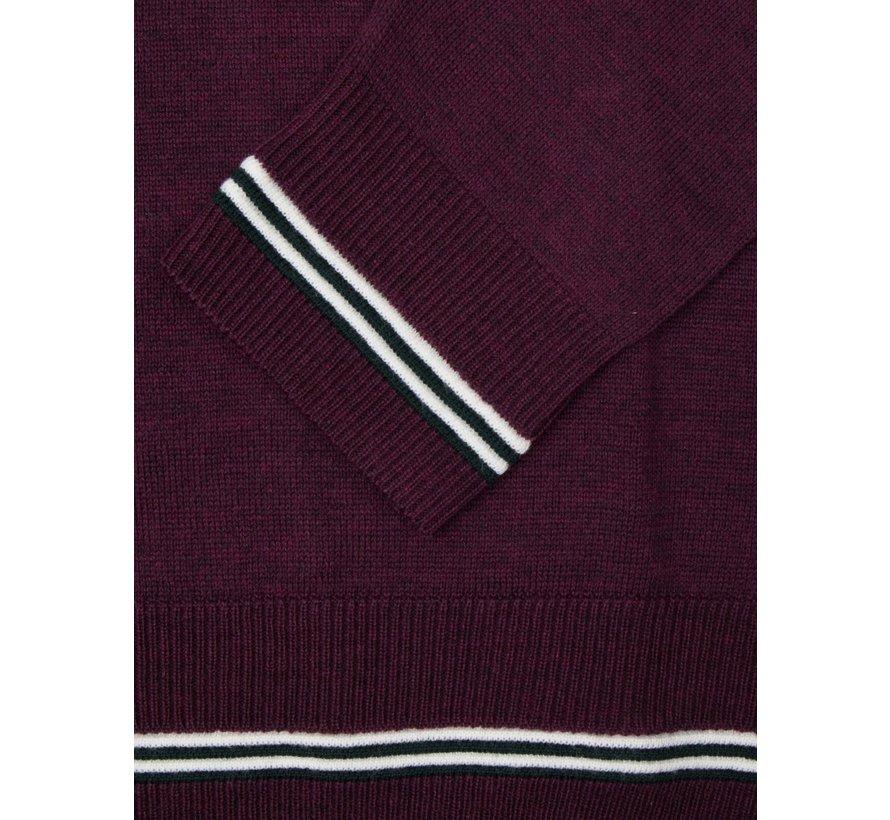 Pullover Romagno V-Hals Paars (1895007 - 65000)