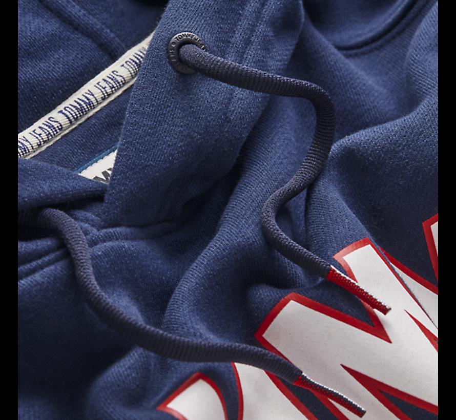 Hooded Sweater Navy Blauw Met Logo (DM0DM07025 - CBK)