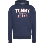 Tommy Hilfiger Hooded Sweater Navy Blauw Met Logo (DM0DM07025 - CBK)