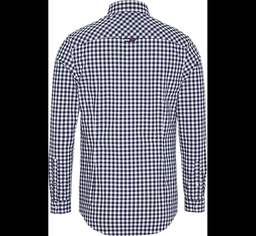 Overhemd Button Down Geblokt Wit (DMDM06935 - YA2)