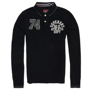 Superdry Lange Mouw Polo Classic Superstate Classic Zwart (M11002ER - 02A)
