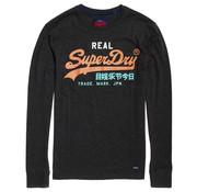 Superdry Longsleeve T-shirt Logo Antraciet (M6000037A - W6J)