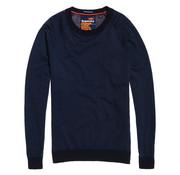 Superdry Orange Label Cotton Sweater Navy (M61001GR - YR5)