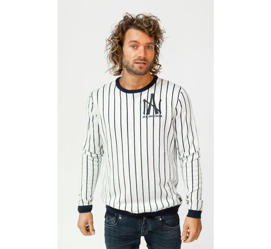 Longsleeve T-Shirt Piet Slim Fit Wit (AM1903-580-000)