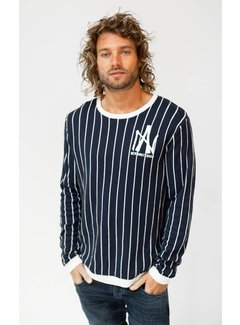 Amsterdenim Longsleeve T-Shirt Piet Navy (AM1903-580-579)