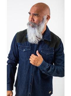 Amsterdenim Jeans Overhemd Dapper Navy Melange (AM1903-433-525)