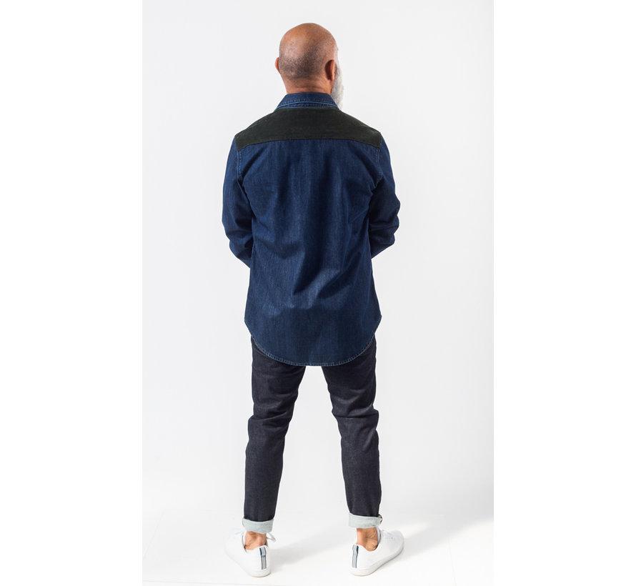 Jeans Overhemd Dapper Navy Melange (AM1903-433-525)